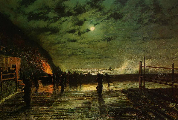 John Atkinson Grimshaw, In Peril, 1879