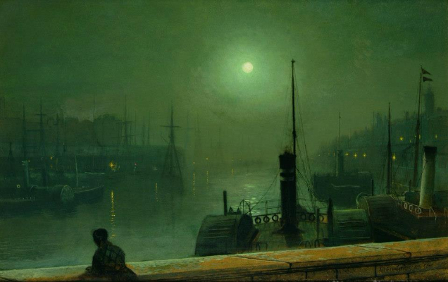 John Atkinson Grimshaw, On The Clyde Glasgow, 1879