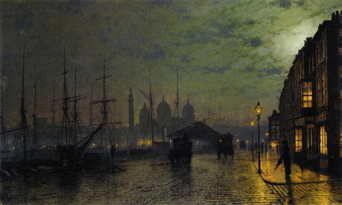 John Atkinson Grimshaw, Princes Dock Hull, 1882