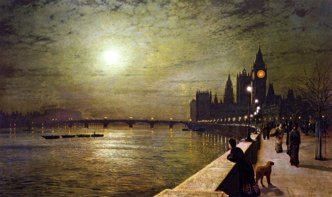 John Atkinson Grimshaw, Reflections On The Thames, 1880