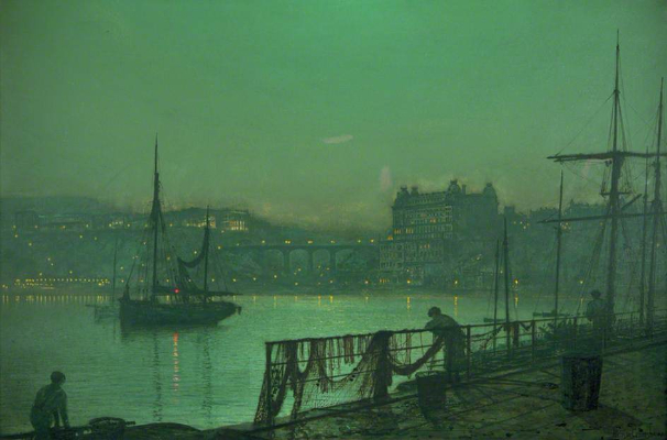 John Atkinson Grimshaw, Scarborough Lights, 1877
