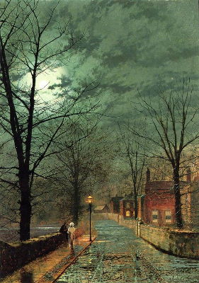 John Atkinson Grimshaw, The Gossips, Bonchurch, Isle of Wight, 1880