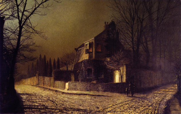 John Atkinson Grimshaw, Yew Court, Scalby, Near Scarborough, 1875