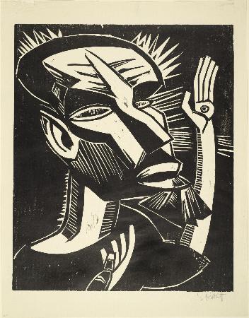 Karl Schmidt-Rottluff, Der Heilige Franziskus, 1919