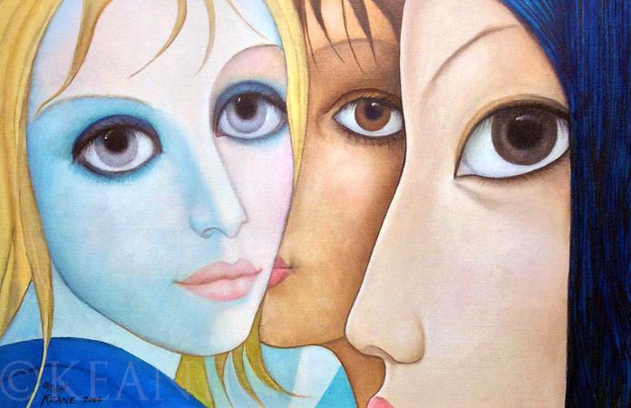 Margaret Keane, Corner Eyes, 2004