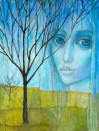 Margaret Keane, Leafless Eyes, 2013