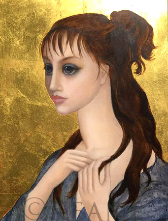 Margaret Keane, One Golden Moment, 2003