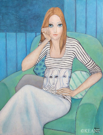 Margaret Keane, Waisted Eyes, 2013