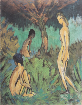 Otto Mueller, Three Acts Under The Tree, 1913