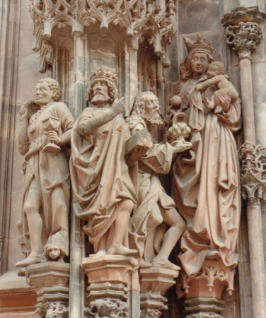 Strasbourg Katedrali heykel