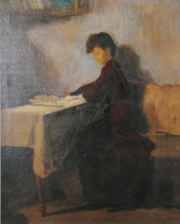 avni arbas, oturan kadin, 1944-45