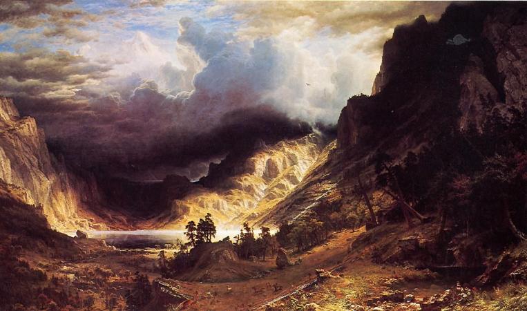 Albert Bierstadt, A Storm In The Rocky Mountains, 1866