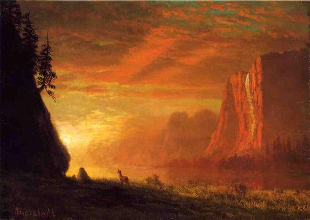 Albert Bierstadt, Deer at Sunset