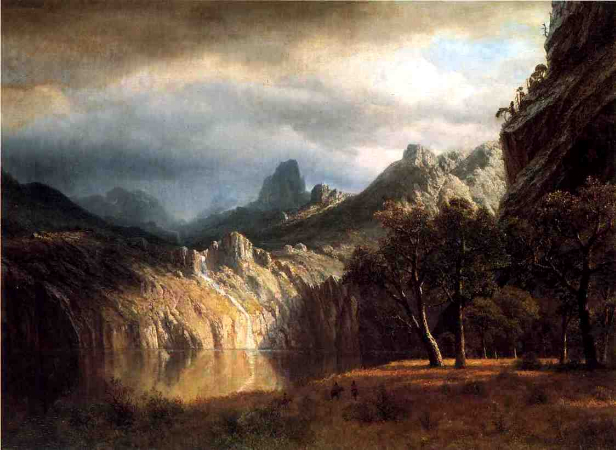 Albert Bierstadt, In Western Mountains, 1865