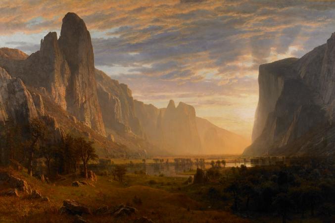 Albert Bierstadt, Looking Down Yosemite Valley, 1865