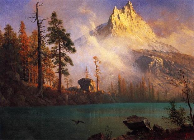 Albert Bierstadt, Mountain Lake, 1865