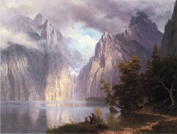 Albert Bierstadt, Scene In The Sierra Nevada, 1861