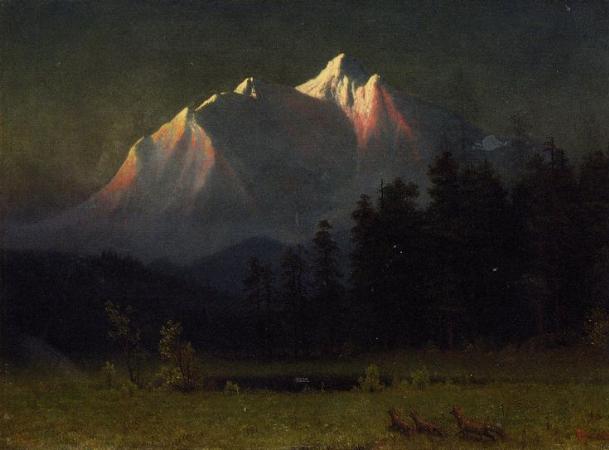 Albert Bierstadt, Western Landscape, 1871