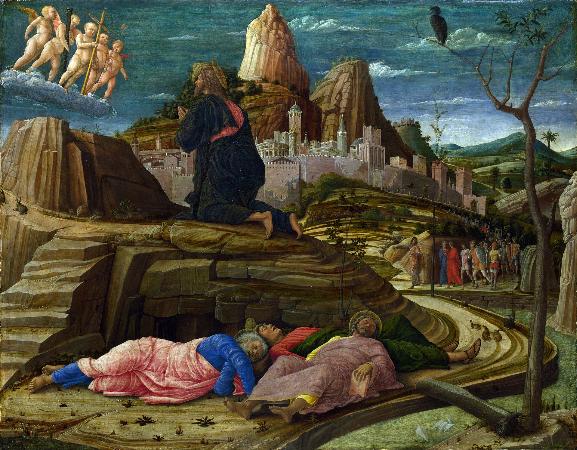 Andrea Mantegna, Agony in the Garden, 1458-60
