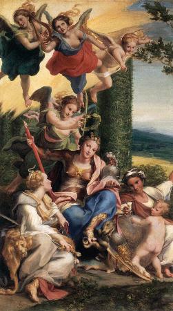 Antonio Allegri Correggio, Allegory of Virtues, 1528-30