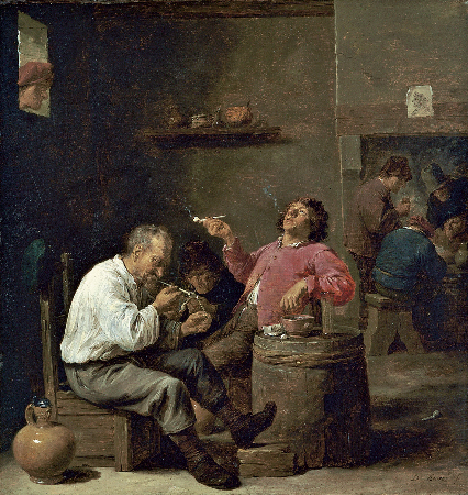 David Teniers the Younger, Smokers In An Interior, 1637