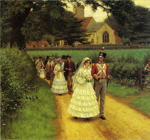 Edmund Blair Leighton, The Wedding March, 1919
