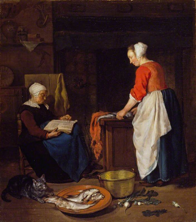Gabriel Metsu, An Old Woman Asleep, 1657-62