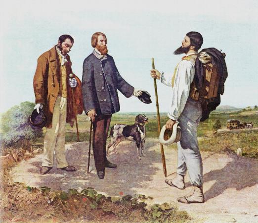 Gustave Courbet, Bonjour, Monsieur Courbet, 1854