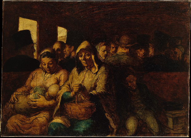 Honore Daumier, The Third-Class Carriage, 1863-65