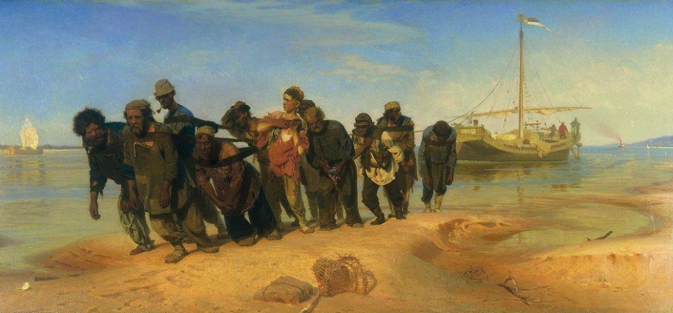 İlya Repin, Barge Haulers On The Volga, 1870