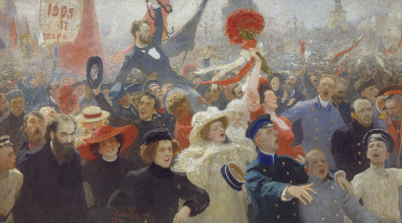 İlya Repin, Demonstration On October 17, 1905