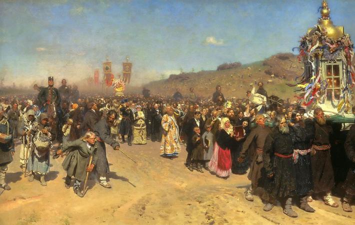 İlya Repin, Krestny Khod (Religious Procession) in Kursk Gubernia