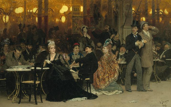İlya Repin, Parisian Cafe, 1875