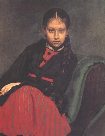 İlya Repin, Portrait of Vera Shevtsova, 1869