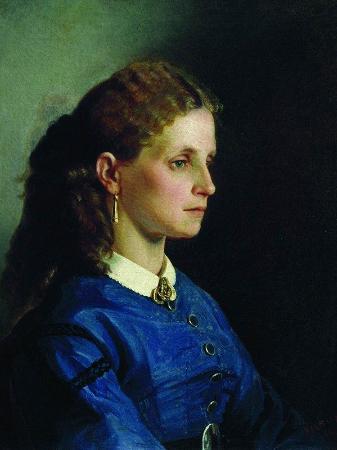 İlya Repin, Portrait of Yanitskaya, 1865