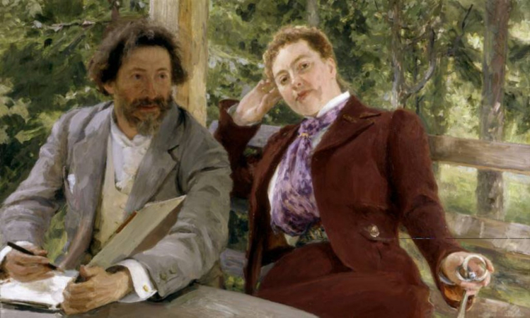 İlya Repin, Self Portrait with Natalia Nordman, 1903