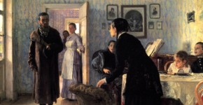 İlya Repin, Unexpected Visitors, 1888