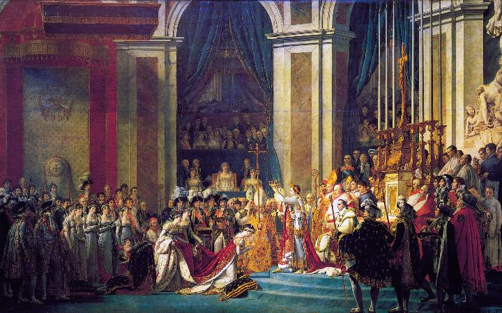 Jacques-Louis David, Le Sacre de l'empereur Napoléon, 1805-1807