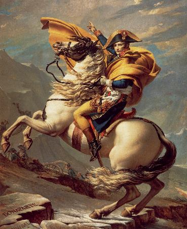 Jacques-Louis David, Napoleon Crossing The Alps, 1800