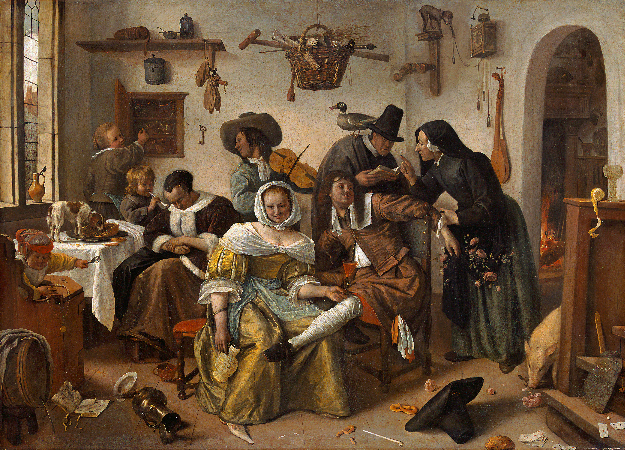 Jan Steen, Beware of Luxury, 1663
