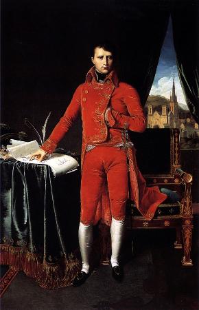 Jean Auguste Dominique Ingres, Portrait de Napoléon Bonaparte en premier consul, 1804