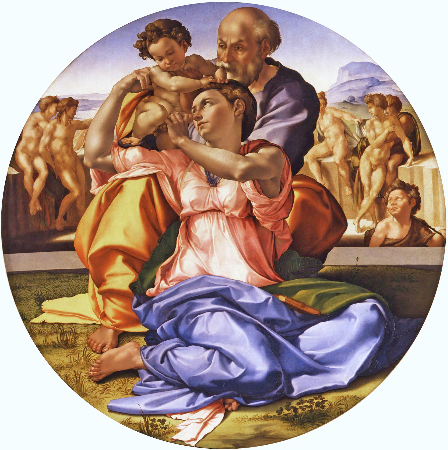 Michelangelo, The Holy Family With The Infant St. John the Baptist, 1506-1508