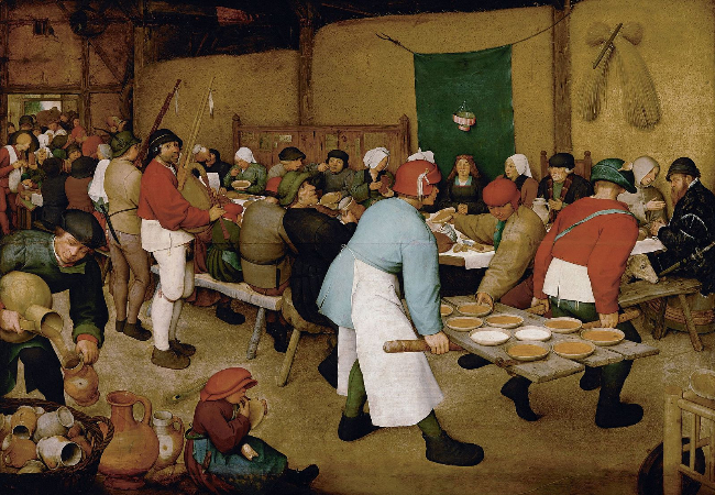 Pieter Bruegel, Peasant Wedding, 1568