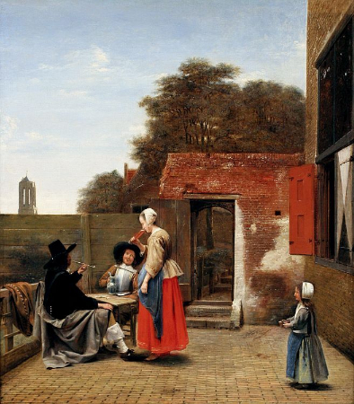 Pieter de Hooch, A Dutch Courtyard, 1657