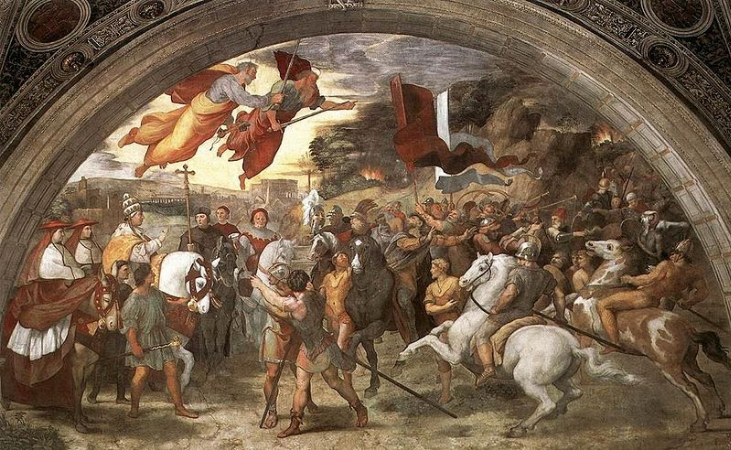 Raffaello Sanzio, The Meeting Between Leo The Great and Attila, 1514