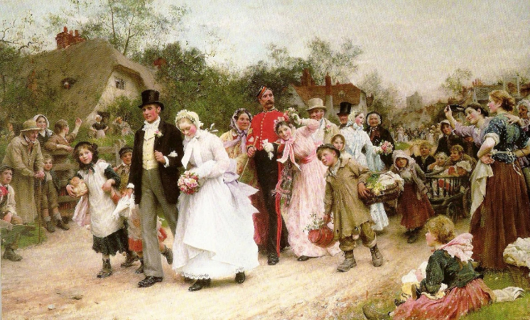 Samuel Luke Fildes, The Village Wedding, 1883