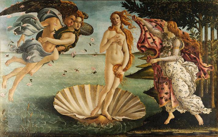 Sandro Botticelli, The Birth of Venus, 1482-86