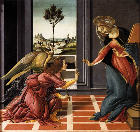Sandro Botticelli, The Cestello Annunciation, 1489