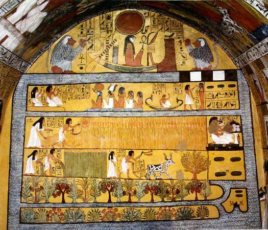 Sennedjem ve esinin yasamdan sonraki tasviri, M.O. 1150