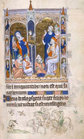 Tapinakta İsa, atmacayla avlanma, 1310-20